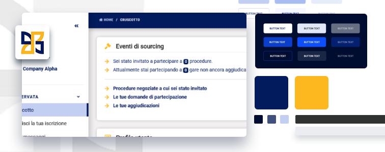 Personalizzazione grafica piattaforma software di e-Procurement