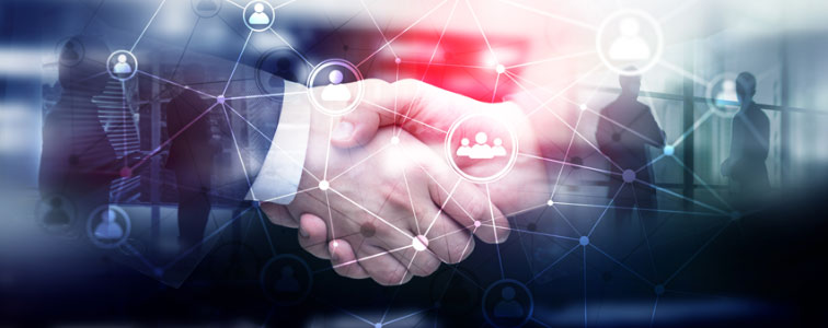 Handshake to symbolize a winning software solution for managing sourcing requirements